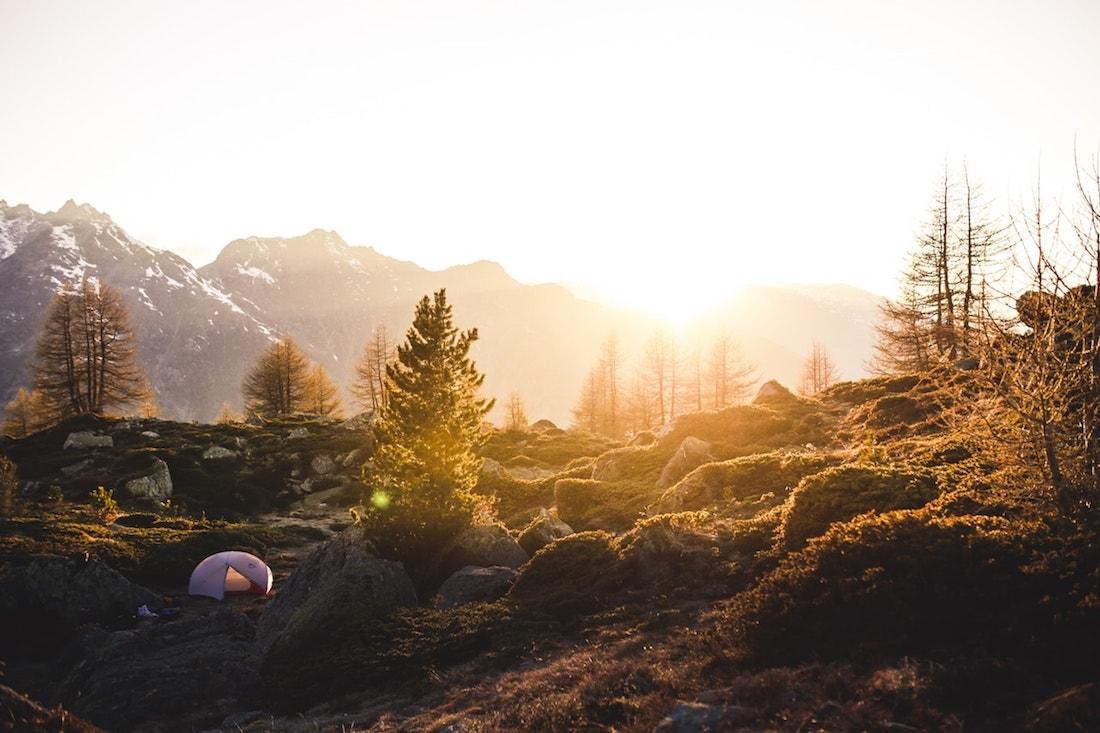sunrise in wilderness